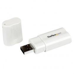 StarTech.com ICUSBAUDIO Adaptador USB Macho - Audio Estéreo Hembra, Blanco