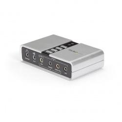 StarTech.com Adaptador de Sonido ICUSBAUDIO7D, 7.1 Canales, USB, Blanco
