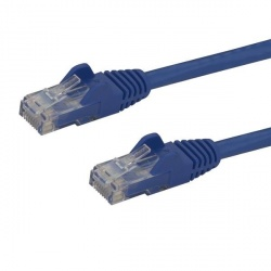 StarTech.com Cable Patch Cat6 UTP sin Enganches RJ-45 Macho - RJ-45 Macho, 7.62 Metros, Azul