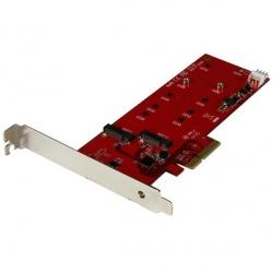 StarTech.com Tarjeta Controladora M.2 SATA III PCI Express para 2x SSD