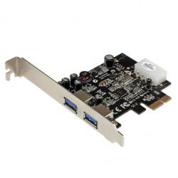 StarTech.com Tarjeta PCI Express con Fuente Molex, 2 Puertos USB 3.0