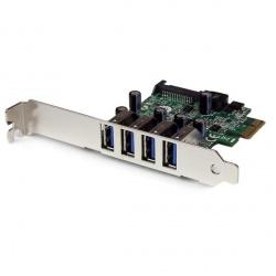 StarTech.com Tarjeta PCI Express de Perfil Bajo, 5 Gbit/s, 4 Puertos USB 3.0
