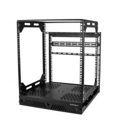 StarTech.com Gabinete Deslizante 12U de 4 Columnas, hasta 56.7kg, Negro
