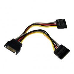StarTech.com Cable Adaptador Bifurcador Divisor de Alimentación SATA, 15cm, 2x Hembra