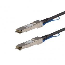 StarTech.com Cable QFXQSFPDAC1M QSFP+ Macho - QSFP+ Macho, 1 Metro, Negro