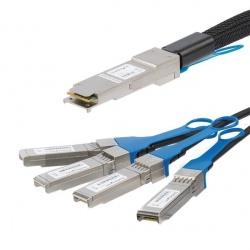 StarTech.com Cable QSFP4SFPPC3M QSFP+ Macho - 4x SFP+ Macho, 3 Metros, Negro
