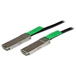 StarTech.com Cable QSFPMM2M QSFP+ Macho - QSFP+ Macho, 2 Metros, Negro