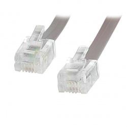 StarTech.com Cable Telefónico RJ25FT, RJ11 Macho - RJ11 Macho, 7.6 Metros, Gris