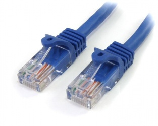 StarTech.com Cable Patch Cat5e UTP sin Enganches RJ-45 Macho - RJ-45 Macho, 90cm, Azul