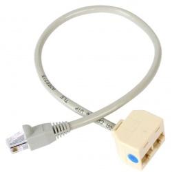 StarTech.com Cable Adaptador Splitter RJ-45 2x Hembra - 1x Macho, 33cm, Gris