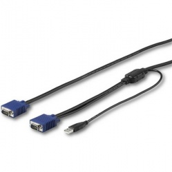 StarTech.com Cable KVM RKCONSUV10, VGA Macho - VGA/USB Macho, 3 Metros, Negro