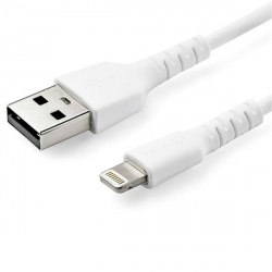 StarTech.com Cable de Carga Certificado MFi Lightning Macho - USB A Macho, 1 Metro, Blanco, para iPod/iPhone/iPad