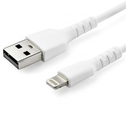 StarTech.com Cable Lighting Macho - USB A Macho, 2 Metros, Blanco