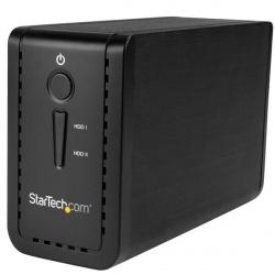 StarTech.com Caja USB 3.1 con 2 Bahías SATA de 3.5'', RAID, Negro