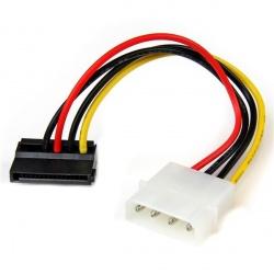 StarTech.com Cable Adaptador de Alimentación SATA en Ángulo a la Izquiera, 15cm