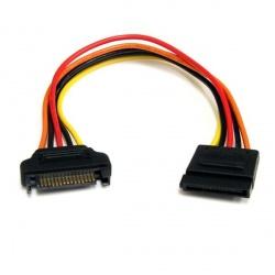 StarTech.com Cable SATA Power Macho - SATA Power Hembra, 20cm, Negro