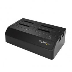 StarTech.com Docking Station SDOCK4U313 USB 3.1, 1x USB 3.1, 4 Bahías SATA 2.5/3.5'' para SSD o Disco Duro, Negro
