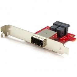StarTech.com Adaptador Mini-SAS 2x SFF-8643 Hembra - 2  SFF-8644 Hembra, Rojo
