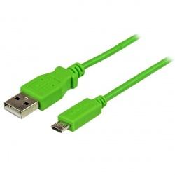 StarTech.com Cable Slim Micro USB B - USB A, 1 Metro, Verde