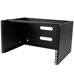 StarTech.com Soporte de Montaje en Pared 6U, para Patch Panel Parcheo de 12'', Negro