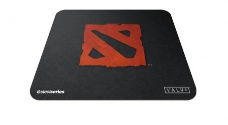 Mousepad Gamer SteelSeries QcK Rival Dota 2, 25x21cm, Negro/Rojo