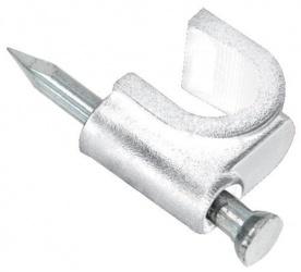 Steren Grapa para Cable 200-960B, 7mm, Blanco