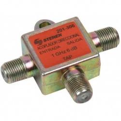 Steren Acoplador Direccional tipo T, RFI, Cromo