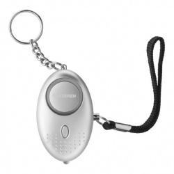 Steren Alarma Personal con Linterna ALA-038, 120dB, Plata