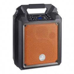 Steren Amplificador AMP-025BT, Bluetooth, Alámbrico/Inalámbrico, 900W PMPO, Negro/Naranja