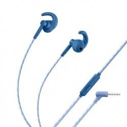 Steren Audífonos Intrauriculares Deportivos con Micrófono AUD-356S, Alámbrico, 1.2 Metros, 3.5mm, Azul