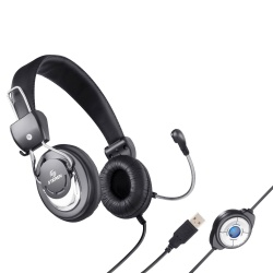 Steren Audífonos Multimedia con Micrófono AUD-532, Alámbrico, USB, Negro