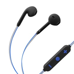 Steren Audífonos Intrauriculares con Micrófono AUD-7000, Inalámbrico, Bluetooth, Negro/Azul