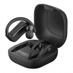 Steren Audífonos Intrauriculares con Micrófono FreePods Sport, Inalámbrico, Bluetooth, Negro