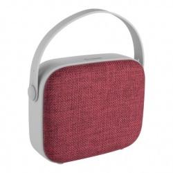 Steren Bocina Portátil HandBag, Bluetooth, Alámbrico/Inalámbrico, 3W RMS, USB, Rojo/Gris