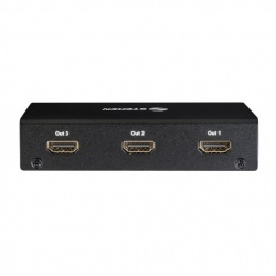 Steren Video Splitter HDMI, 4 Puertos HDMI, Negro
