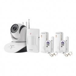 Steren Kit Sistema de Alarma CCTV-2000, Inalámbrico, 1x Cámara/2x Sensores Magneticos/1x Sensor de Movimiento/2x Botones de pánico