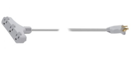 Steren Extensión EXT-3X16-03/PB, 3 Contactos, 13A, 3 Metros, Gris
