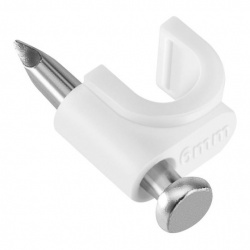 Steren Grapa para Cable GRA-955B, 5mm, Blanco, 50 Piezas