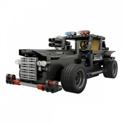 Steren Kit para Armar de Carro Policía con Control Remoto K-825, Negro