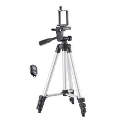 Steren Tripié MOV-049, 35 - 105cm, Aluminio/Negro