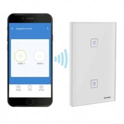 Steren Interruptor de Luz Inteligente Touch SHOME-110, Wi-Fi, Blanco