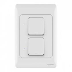 Steren Interruptor de Luz Inteligente SHOME-116, 2 Botones, WiFi, Blanco