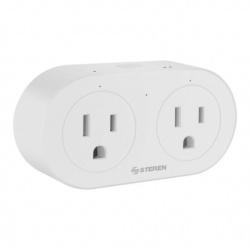 Steren Smart Plug SHOME-130, Wi-Fi, 2 Conectores, 1000W, 10A, Blanco