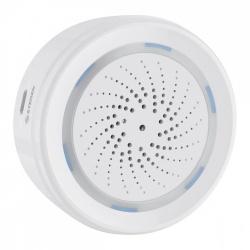 Steren Sirena para Interior SHOME-165 con Wi-Fi, Inalámbrico,120dB, Blanco