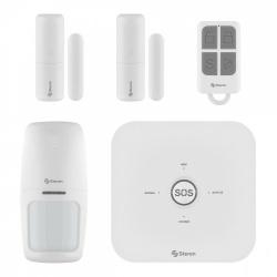 Steren Kit Sistema de Alarma SHOME-2000, Inalámbrico, Módulo de Alarma, Convertidor de Voltaje, Control Remoto