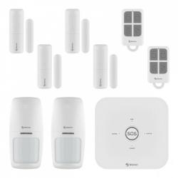 Steren Kit Sistema de Alarma SHOME-2100, Inalámbrico, Módulo de Alarma, 2 Sensores de Movimiento, Convertidor de Voltaje