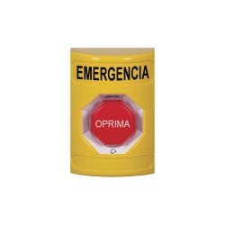 STI Botón de Emergencia SS-2209EM-ES, Alámbrico, Rojo/Amarillo
