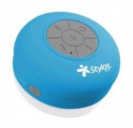 Stylos Bocina Portatil STSWAX1, Bluetooth, Inalámbrico, 2W RMS, Azul - Resitente al Agua