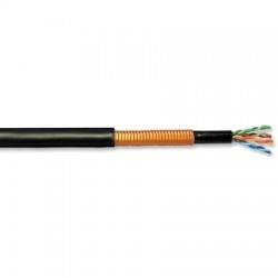 Superior Essex Bobina de Cable Cat5e FTP Macho - Macho, 305 Metros, Negro