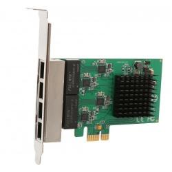 Syba Tarjeta de Red SI-PEX24042 de 4 Puertos, 2.5Gbit/s, PCI Express